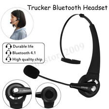 Trucker Driver Headset bluetooth Wireless Over The Head Boom Mic Noise  !