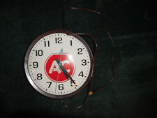 "GENERAL ELECTRIC 14"" Glass Face School Wall CLOCK Model #2012 AC Delco ADV"