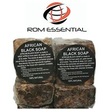 RAW AFRICAN BLACK SOAP ORGANIC FROM GHANA PREMIUM QUALITY 16 oz. 1 POUND