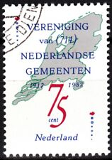 Netherlands 1987 Mi. 1326. Unification of Dutch Municipalities. Map, Used / Cto