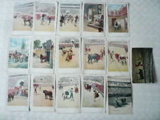 16 VINTAGE POSTCARDS - SPAIN > BULL FIGHTING - ARTISTICA ESPANOLA