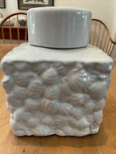 Walton Seashell Lidded Jar, Small, White, One King's Lane, #25253