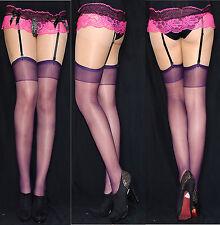 2 paires sangles mariée bas violet/prune jarretelles Taille universelle S-XL EU