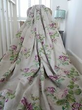 LAURA ASHLEY CURTAINS linen SANFORD shabby COTTAGE chic CABBAGES & ROSES *RARE*