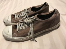 8b5202fac574 Converse Jack Purcell Mens Brown Canvas Sneakers Shoes 12 Low Top SC8