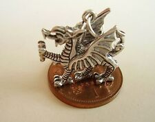 BEAUTIFUL WELSH DRAGON STERLING SILVER CHARM