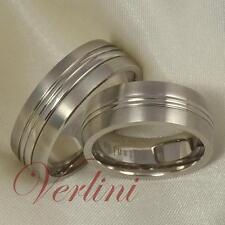7MM Titanium Wedding Bands Set Rings For Men & Women Matte Finish Size 6-13