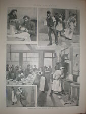 Round About the Hoxton Soup Kitchen London 1895 old prints and article