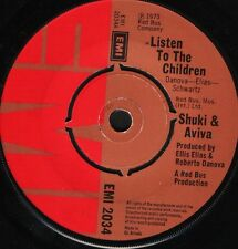 "SHUKI AND AVIVA listen to the children/love is like EMI 2034 uk 1973 7"" WS EX/"