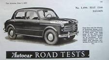 1953 Renault 1100 Saloon Original Autocar magazine Road test