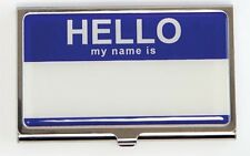 Design Ideas HELLO Identity Business/Name Card Case Choice Red or Blue #3210403