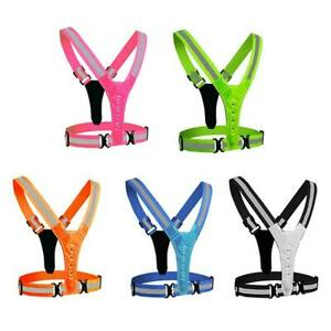 LED Running Cycling Vest Reflective Safety Vest High Strap Visibility A8M2