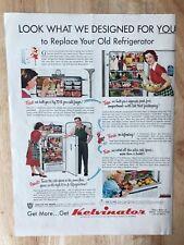 Original Print Ad 1951 KELVINATOR Refrigerator 1950s Kitchen