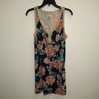 Women's Lucky Brand Multicolor Floral Pattern Sleeveless Dress Size Large