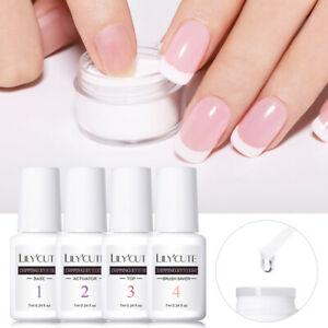 LILYCUTE 7ml Dipping Powder System Liquid Base Top Coat Nail Art Starter Kit