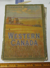 1910 Canadian Pacific Railway Western Canada booklet