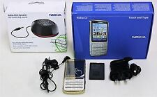 """NOKIA C3 18-Carat Gold Plated Edition 5MP 2.4"""" Mobile Phone Unlocked Set"""