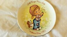 "Vintage Avon Little Things 1982 Mothers Day Plate 5"" Cl9-3"