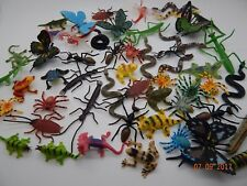 12 Mini plastic Insects Bugs Butterflies Frogs Caterpillar Spiders Educational