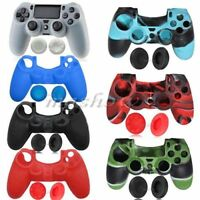 Silicone Rubber Soft Case Grip Cover Skin For Sony Playstation 4 PS4 Controller