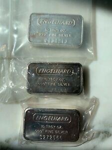 Engelhard 10 oz .999 Silver Bar - C serial #s  you pick!