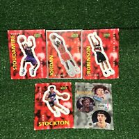Lot Of 5 Vintage 1997 Upper Deck NBA Chicago Bulls Michael Jordan Sticker + More