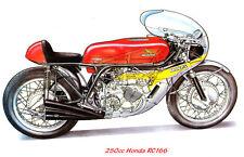 HONDA RC166 - 250cc 6 POSTER A3 cilindro.