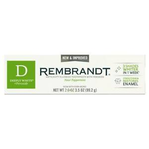 2 X REMBRANDT® DEEPLY WHITE® + Peroxide Toothpaste, 3.5 OZ ( 2 PACKS)