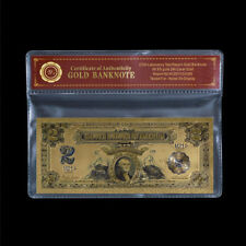 WR 1899 USA 2 $ Ein Dollar Silber Zertifikat Sammlerstück Goldbanknote