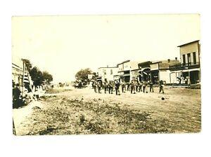 RPPC Walton State Bank & Parade Main Street Walton, Kansas c 1909