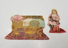 Lion Coffee The Doll House THE NURSERY  Paper Doll Set #3  Late 1800s