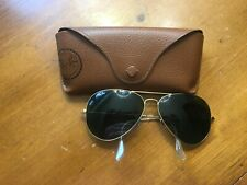 Ray Ban Aviator L2846 Gold / Green Unisex Sunglasses Made in Italy