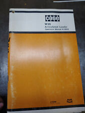 CASE W36 ARTICULATED LOADER OPERATORS MANUAL 9-3502