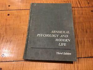 ABNORMAL PSYCHOLOGY & MODERN LIFE 3rd Ed. 1964JAMES C. COLEMAN Mental Health HC