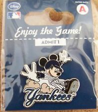 NY New York Yankees Mickey Mouse sliding Disney pin