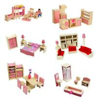 1 Set 1:12 Miniature Doll House Wooden Furniture Child Play Toys Gift Dollhouse