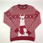 Red Llama 33 Degrees Ugly Christmas Sweater Adult Size Medium
