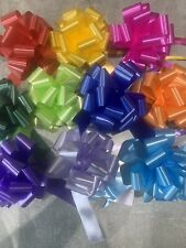 10 X 30mm Rainbow Colours Pull Bow Ribbons Weddings, Gift Wrap, Florist Hampers