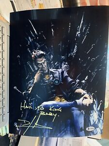 Dameon Clarke signed 11x14 photo Handsome Jack Borderlands Beckett D4