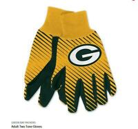 Green Bay Packers Logo Handschuhe Utility Gloves NFL Football NEU !