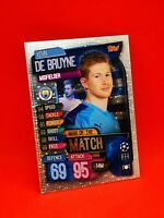Topps match attax 2019-20 carte card champions league MANCHESTER CITY DE BRUYNE