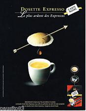 PUBLICITE ADVERTISING 065  2002  CARTE NOIRE  café dosette EXPRESSO
