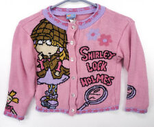 Vintage 90s RUGRATS Cartoon Angelica 1998 Viacom Nickelodeon Sweater Girls S 4/5