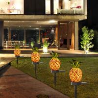 KE_ Simulation Pineapple Cactus Outdoor Garden Lawn LED Solar Lamp Landscape L