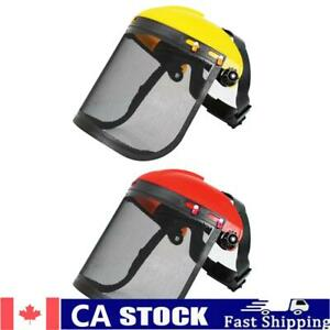Electric Cutting Chainsaw Safety Helmet Lawnmower Trimmer Protective Mask
