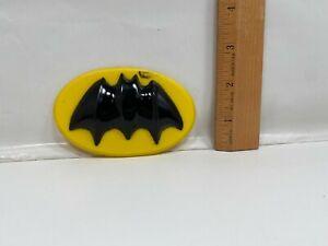 Vintage Wilton Batman Hard Plastic Cake Topper 1977 Chest Emblem DC Comics