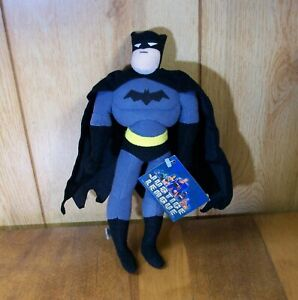 """Justice League Batman 11"""" Superhero Plush New with Tag Toy Works Cartoon Network"""
