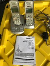 PANASONIC  HOUSE PHONES PAIR CORDLESS ANSWER MACHINE W/BATTERIES