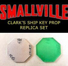 Smallville Clark's Ship Key Prop Replica Set of Two, Superman Kryptonite