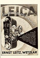 1933 Leica Kamera gepunktet Sekunde ca. 8x11 original Printwerbung